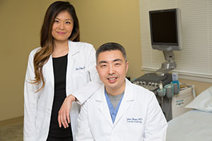 A picture of Lin Chen and Dr. Shao